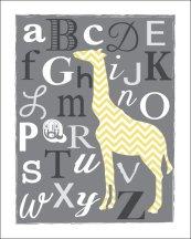 gray & white giraffe print