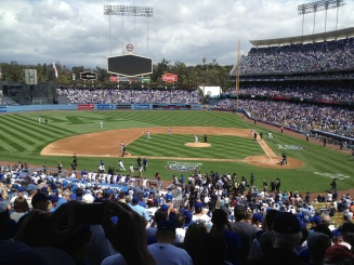 "A full view of the field complete with the new AWESOME ""LA"" in left field! <3 it!!!"