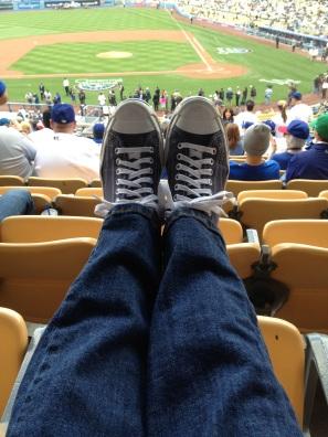 Dodger Blue Jack's at Dodger Stadium Opening Day!