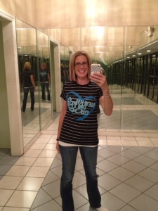 Post concert in my NKOTB t-shirt in the lobby....EXHAUSTED