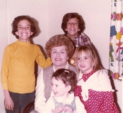 nana with her grandchildren circa 1977